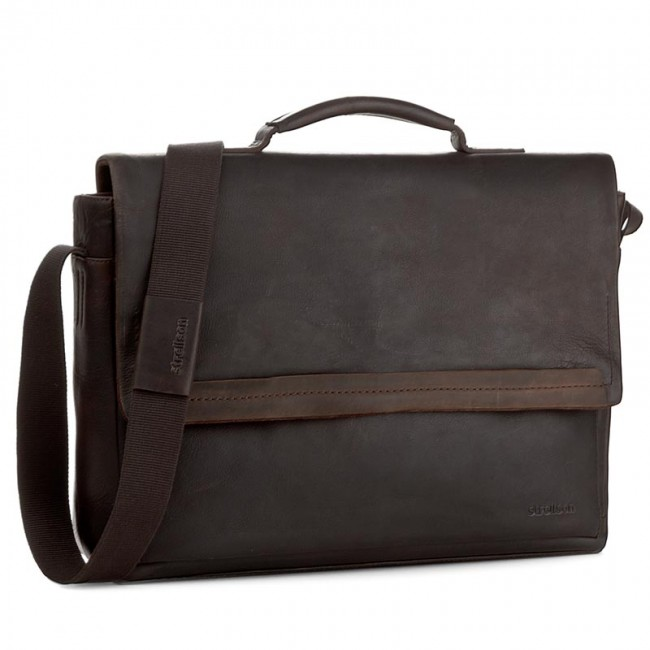 Taška na Laptop STRELLSON - Camden 4010002282 Dark Brown 702