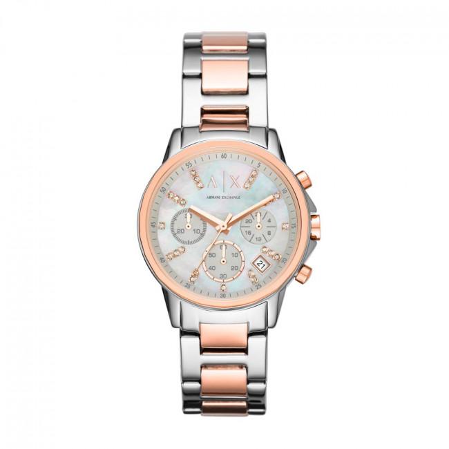 Hodinky ARMANI EXCHANGE - Lady Banks Chronograph AX4331  Silver/Rose