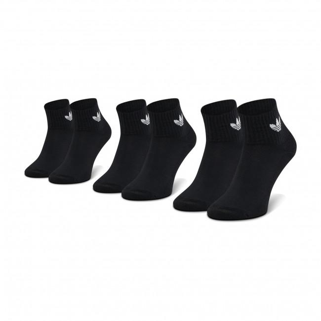 Súprava 3 párov vysokých ponožiek unisex adidas - Mid-Cut Crew FM0643  Black