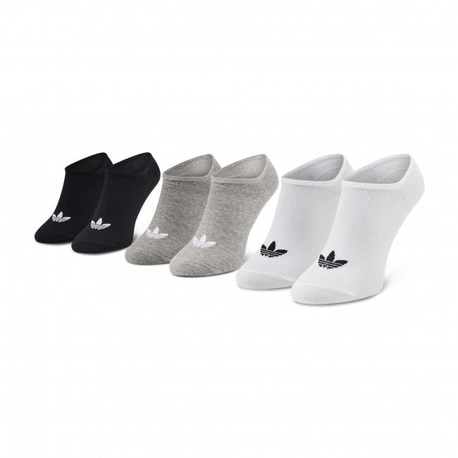Súprava 3 párov kotníkových ponožiek unisex adidas - Trefoil Liner FT8524 White/Black