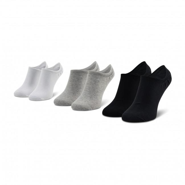 Súprava 3 párov kotníkových ponožiek unisex Reebok - Te Invisible Sock 3P GC8710 White/Mgrey/Black