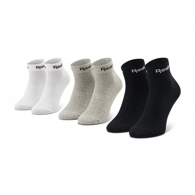 Súprava 3 párov kotníkových ponožiek unisex Reebok - Act Core Ankle Sock 3P GH8168  Mgreyh/White/Black