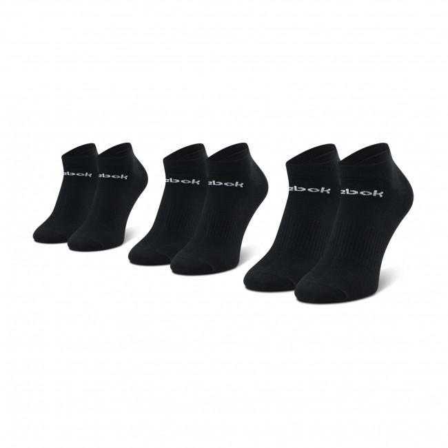 Súprava 3 párov kotníkových ponožiek unisex Reebok - Act Core Low Cut Sock 3P GH8191  Black