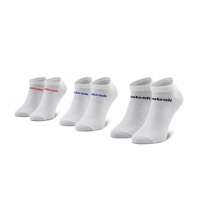 Súprava 3 párov kotníkových ponožiek unisex Reebok - Act Core Low Cut Sock 3P GN7764 White/Dynred/White/Coublu