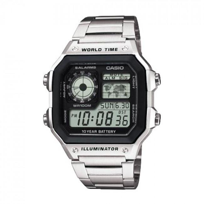 Hodinky CASIO - AE-1200WHD-1AVEF Silver/Silver