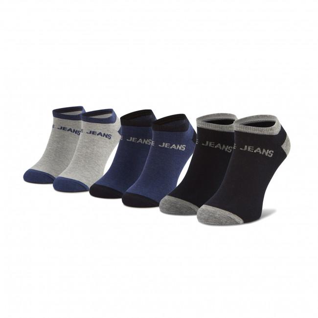 Súprava 3 párov kotníkových ponožiek pánských PEPE JEANS - Anthony PMU10658 Ink/Grey Marl 591
