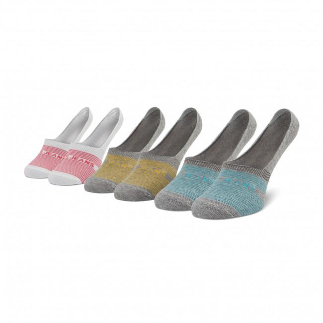 Súprava 3 párov kotníkových ponožiek dámských PEPE JEANS - Lynny PLU10579 Grey/Of White 0AA
