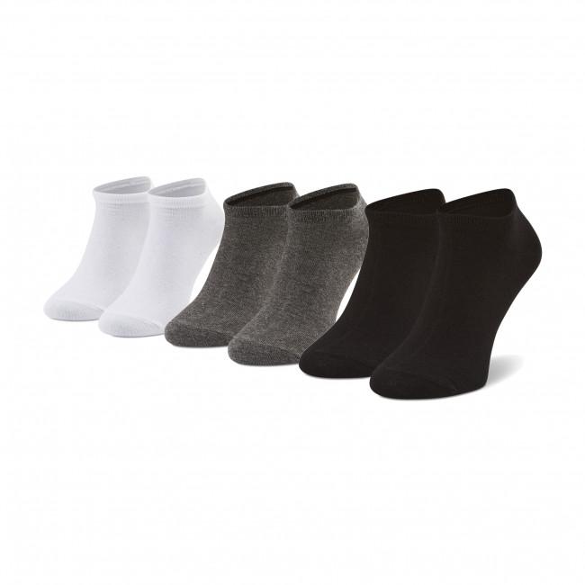 Súprava 3 párov kotníkových ponožiek pánských PEPE JEANS - Brett PMU10057  Black/Grey/White 0AA