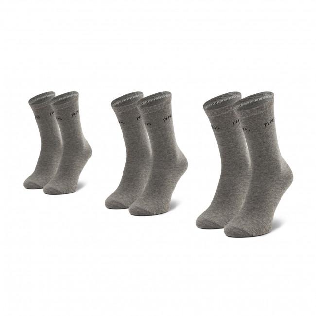 Súprava 3 párov vysokých ponožiek dámských PEPE JEANS - Jane PLU10008  Grey Marl 933