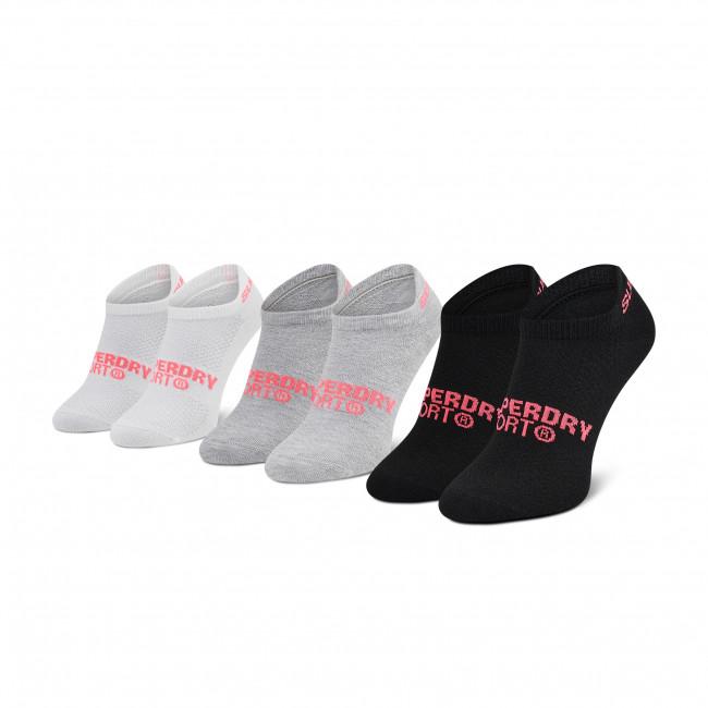 Súprava 3 párov kotníkových ponožiek dámských SUPERDRY - Coolmax Trainer Sock 3Pk WS400011A  Multi 64L