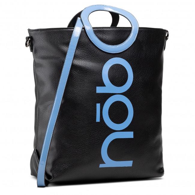 Kabelka NOBO - NBAG-K1350-C020 Czarny Z Niebieskim