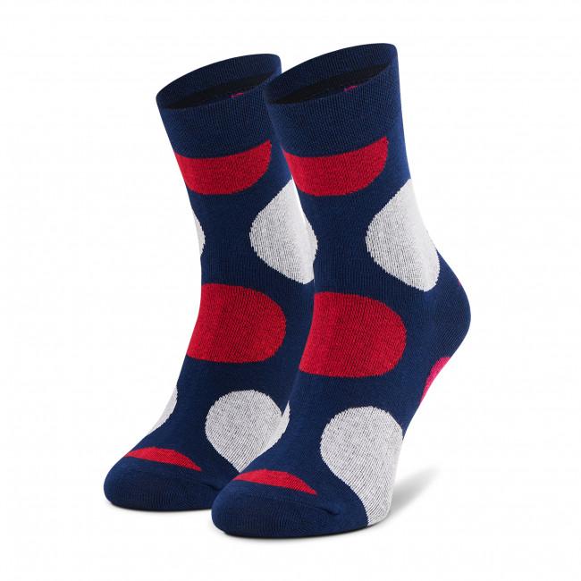 Ponožky Vysoké Unisex DOTS SOCKS - DTK-SX-162-G Farebná Tmavo modrá
