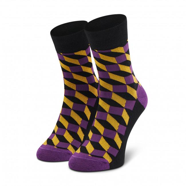 Ponožky Vysoké Unisex DOTS SOCKS - DTS-SX-288-F Čierna Farebná