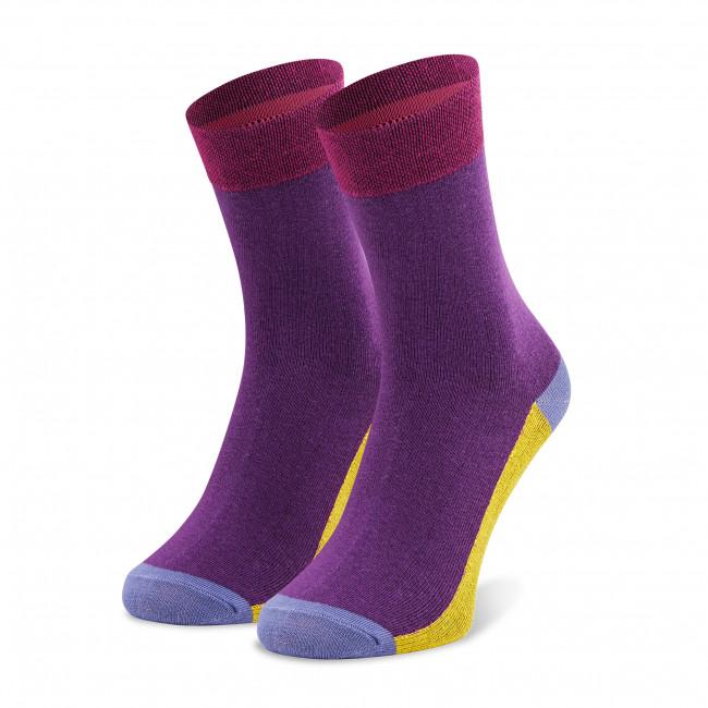 Ponožky Vysoké Unisex DOTS SOCKS - DTK-SX-168-F Fialová