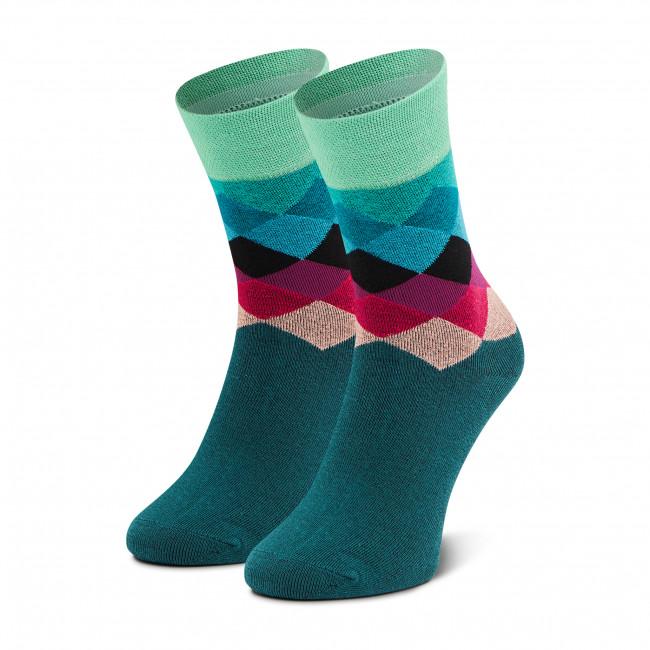 Ponožky Vysoké Unisex DOTS SOCKS - DTS-SX-302-Z Farebná Zelená