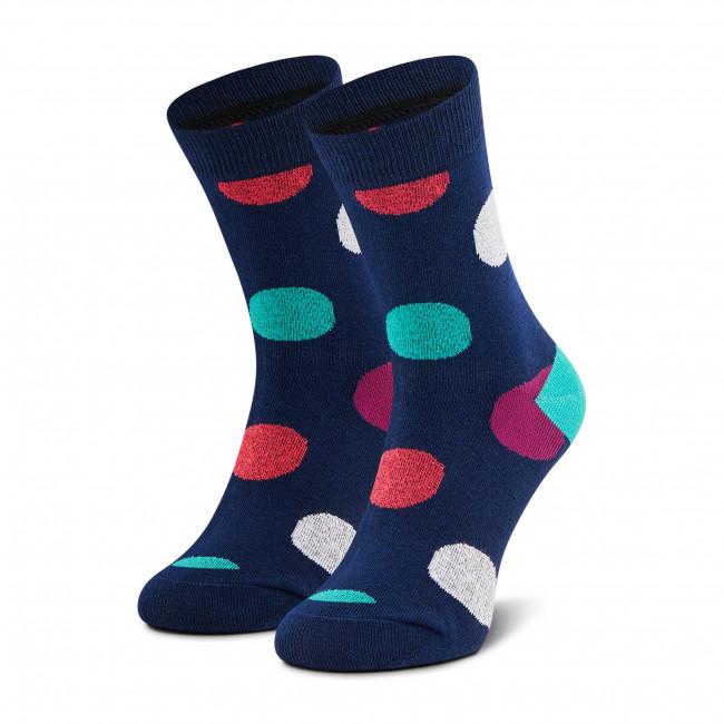 Ponožky Vysoké Unisex DOTS SOCKS - DTD-SX-105-G Farebná Tmavo modrá