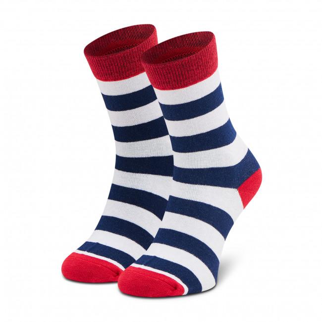 Ponožky Vysoké Unisex DOTS SOCKS - DTD-SX-109-X Biela Tmavo modrá