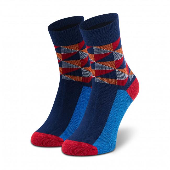 Ponožky Vysoké Unisex DOTS SOCKS - DTS-SX-334-G Farebná Tmavo modrá