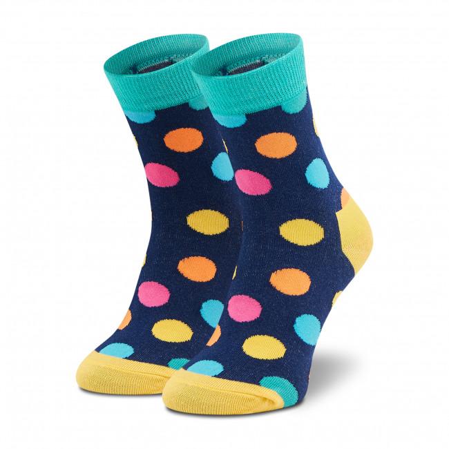 Ponožky Vysoké Unisex DOTS SOCKS - DTD-SX-110-X Farebná Tmavo modrá