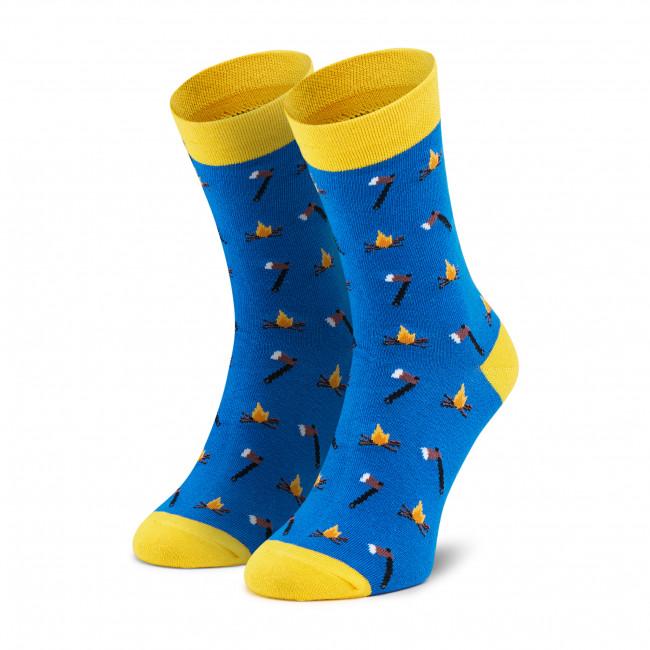Ponožky Vysoké Unisex DOTS SOCKS - DTS-SX-434-N Farebná Modrá
