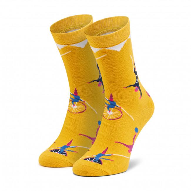 Ponožky Vysoké Unisex DOTS SOCKS - DTS-SX-441-Y Žltá