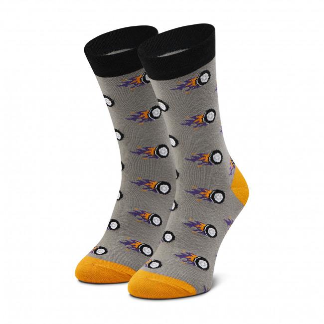 Ponožky Vysoké Unisex DOTS SOCKS - DTS-SX-454-S Sivá