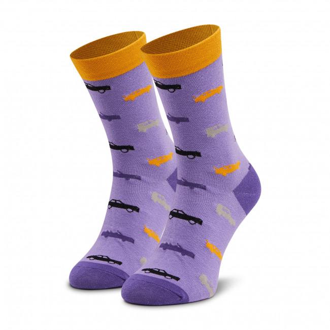 Ponožky Vysoké Unisex DOTS SOCKS - DTS-SX-455-F Fialová