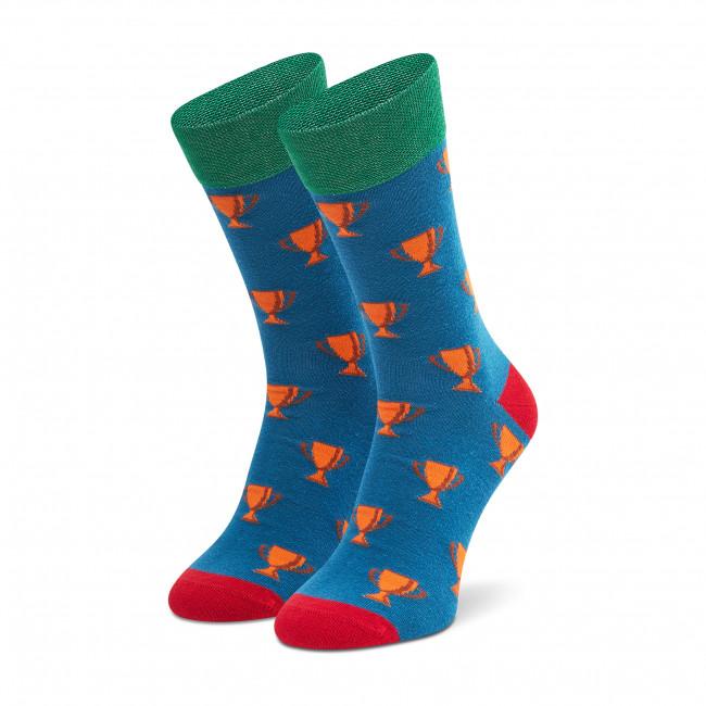Ponožky Vysoké Pánske DOTS SOCKS - D20WF-SX-050-X  Modrá