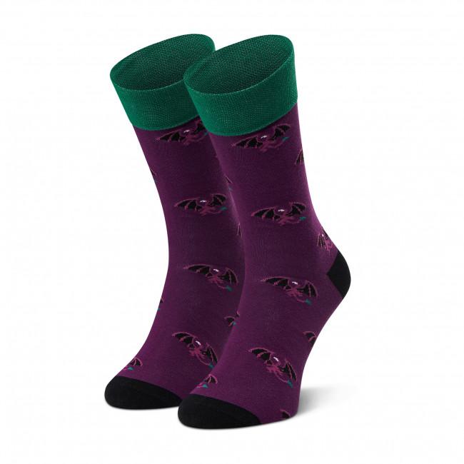 Ponožky Vysoké Pánske DOTS SOCKS - D20WF-SX-063-X Fialová
