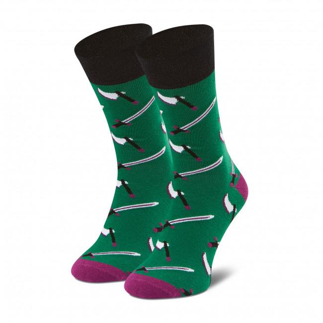 Ponožky Vysoké Pánske DOTS SOCKS - D20WF-SX-065-X Zelená