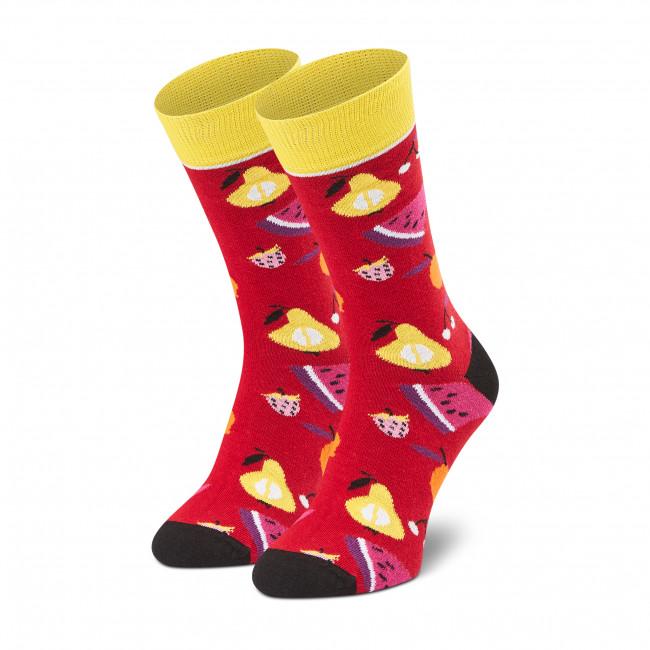Ponožky Vysoké Pánske DOTS SOCKS - D20WF-SX-023-X Červená