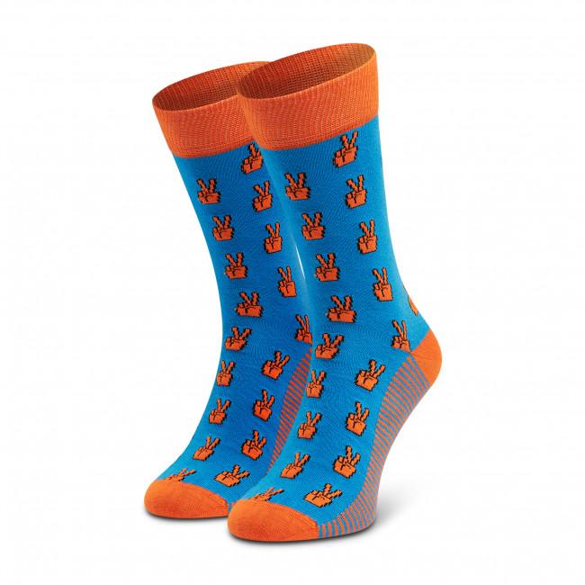 Ponožky Vysoké Pánske DOTS SOCKS - D20WF-SX-007-X-041046 Farebná Modrá