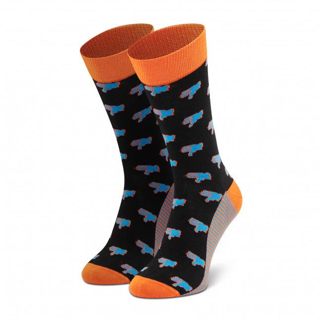 Ponožky Vysoké Pánske DOTS SOCKS - D20WF-SX-008-X-041046 Čierna
