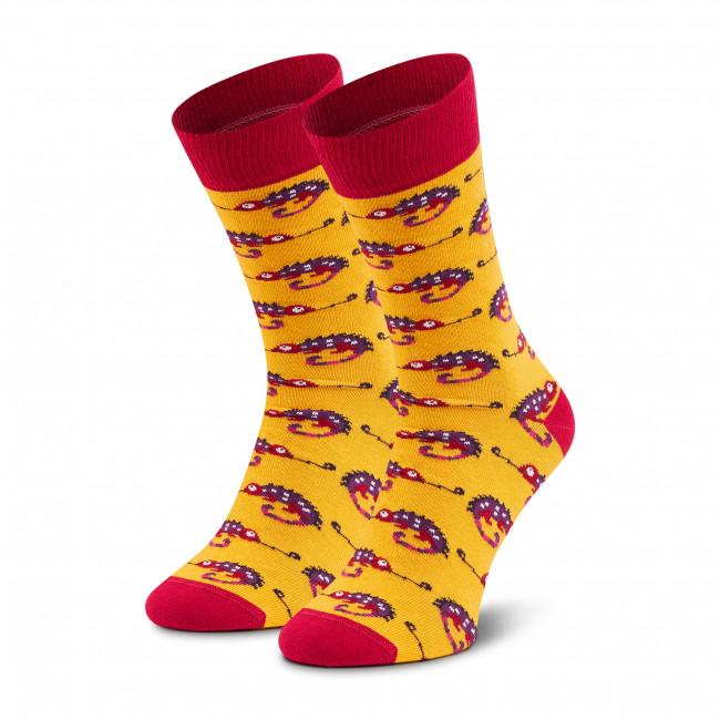 Ponožky Vysoké Pánske DOTS SOCKS - D20WF-SX-020-X-041046 Žltá