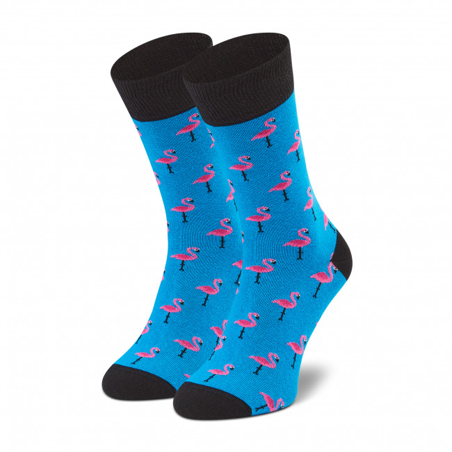 Ponožky Vysoké Pánske DOTS SOCKS - D20WF-SX-057-X Modrá