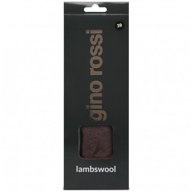 Oteplené vložky GINO ROSSI - Lambswool 000-12 r.39 Hnedá