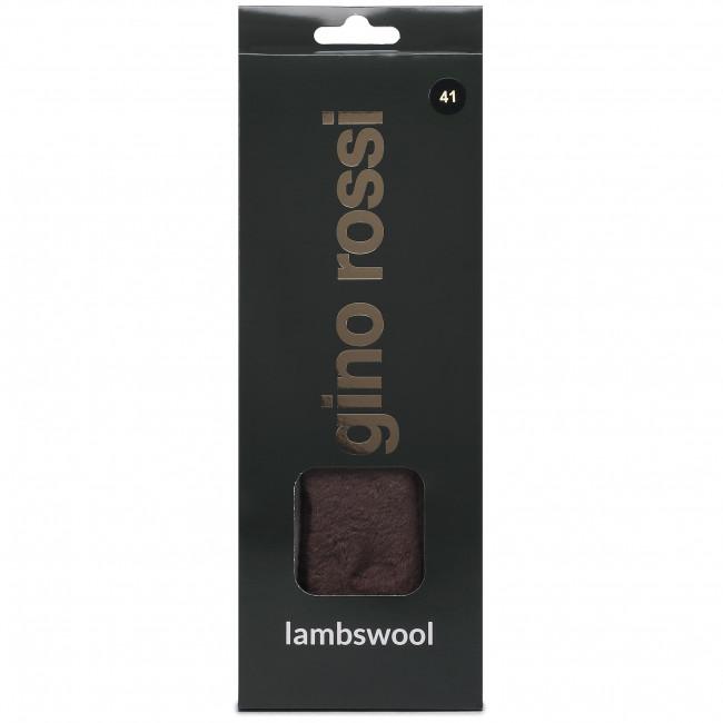 Oteplené vložky GINO ROSSI - Lambswool 000-12 r.41 Hnedá