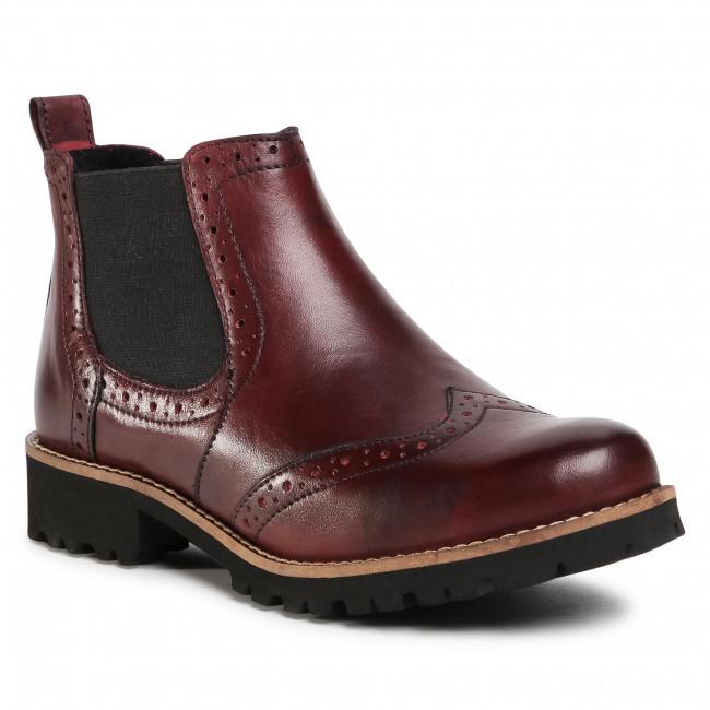 Kotníková obuv s elastickým prvkom LASOCKI - WI23-CORA2-04 Bordová