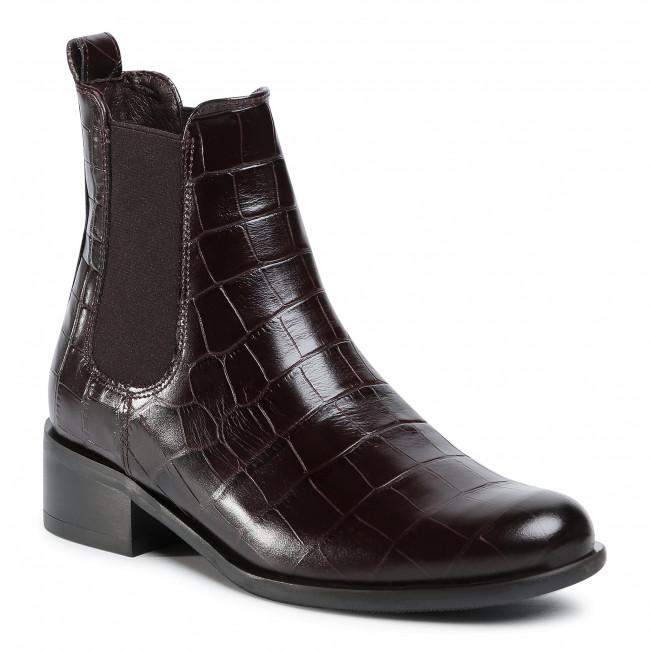 Kotníková obuv s elastickým prvkom GINO ROSSI - 8484-05A Brown