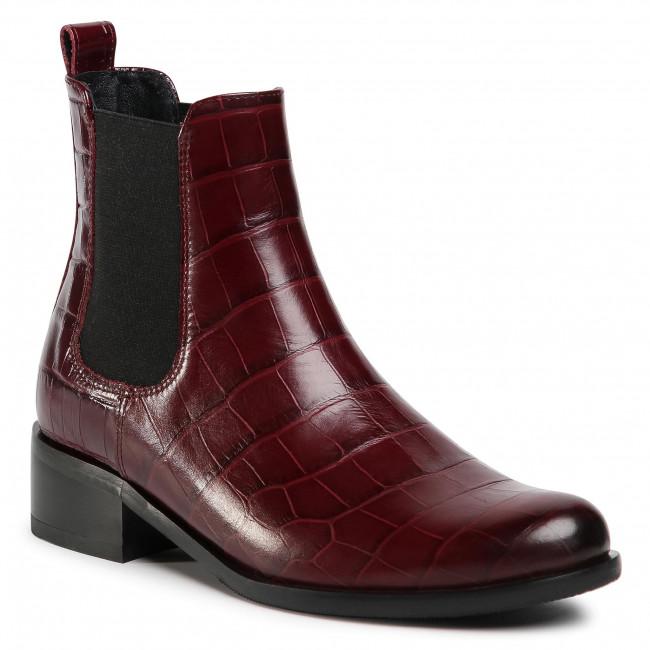 Kotníková obuv s elastickým prvkom GINO ROSSI - 8484-05A Maroon