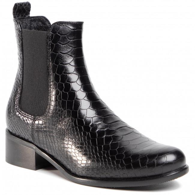 Kotníková obuv s elastickým prvkom GINO ROSSI - 8484-05C Black