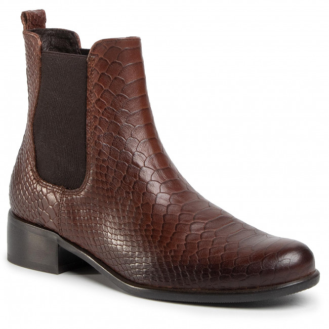 Kotníková obuv s elastickým prvkom GINO ROSSI - 8484-05C Brown
