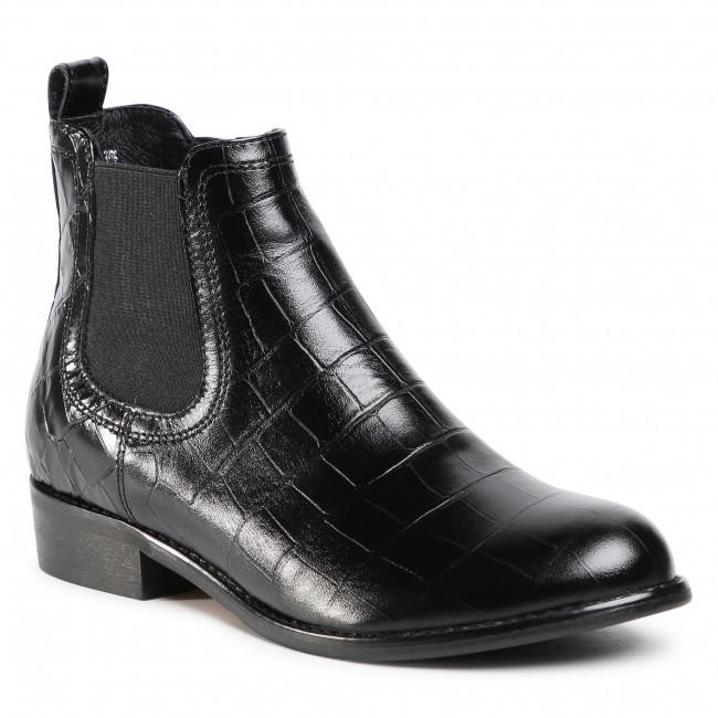 Kotníková obuv s elastickým prvkom GINO ROSSI - 4768-04 Black 1