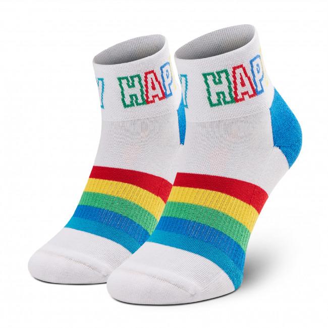 Ponožky Vysoké Unisex HAPPY SOCKS - ATSTR13-1300  Biela Farebná