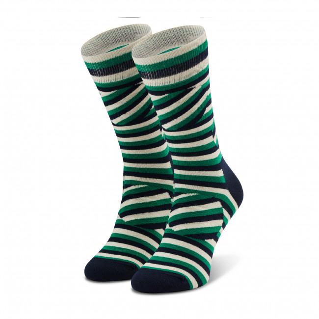 Ponožky Vysoké Unisex HAPPY SOCKS - ABS01-7300 Farebná Zelená