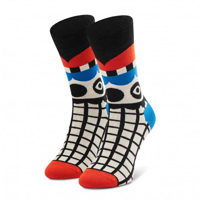 Ponožky Vysoké Unisex HAPPY SOCKS - ABT01-6300 Biela Farebná