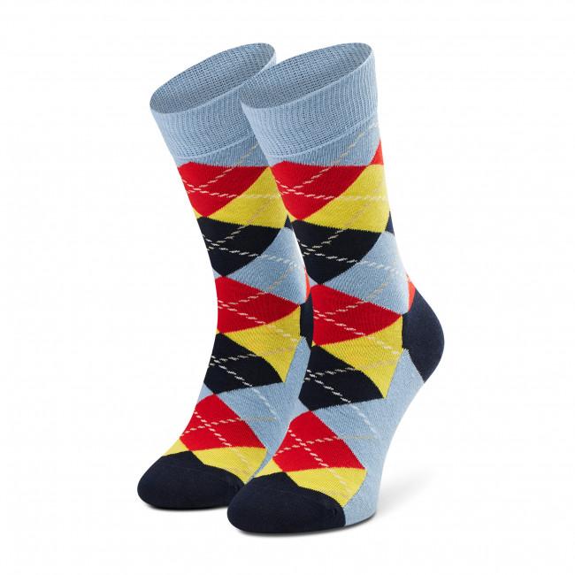Ponožky Vysoké Unisex HAPPY SOCKS - ARY01-6100 Farebná Modrá