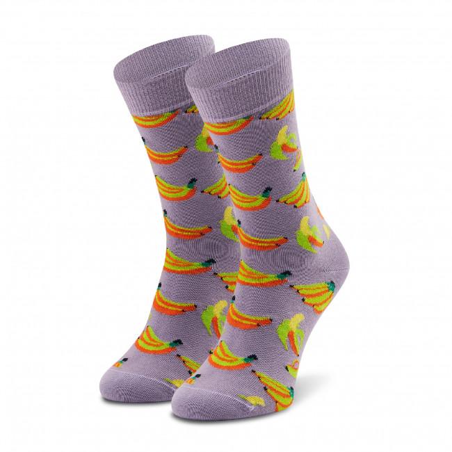 Ponožky Vysoké Unisex HAPPY SOCKS - BAN01-5000 Fialová