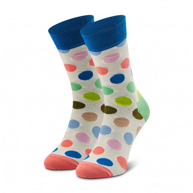Ponožky Vysoké Unisex HAPPY SOCKS - BDO01-1370 Biela Farebná