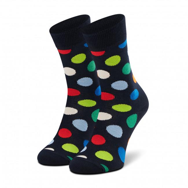 Ponožky Vysoké Unisex HAPPY SOCKS - BDO01-6550 Čierna